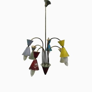 6-Light Chandelier from Stilnovo, 1950s