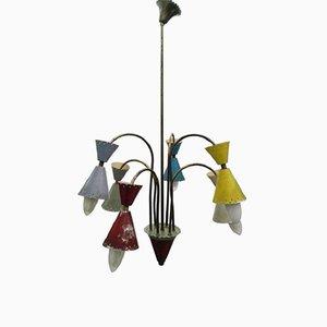 Lámpara de araña de 6 luces de Stilnovo, años 50
