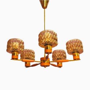 Lámpara colgante sueca Mid-Century, años 60