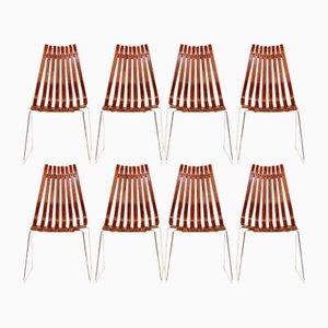 Palisander Scandia Stühle von Hans Brattrud für Hove Mobler, 1960er, 8er Set