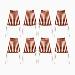 Rosewood Scandia Chairs by Hans Brattrud for Hove Mobler, 1960s, Set of 8