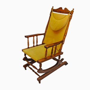 Scandinavian Vintage Wooden Rocking Chair, 1950s
