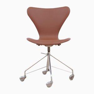Silla de escritorio modelo 3117 Mid-Century moderna de Arne Jacobsen para Fritz Hansen, 1969