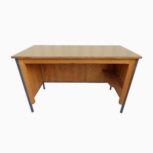 Brauner Vintage Büro-Schreibtisch, 1950er
