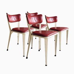 Mid-Century BA3 Esszimmerstühle von Ernest Race, 1950er, 4er Set