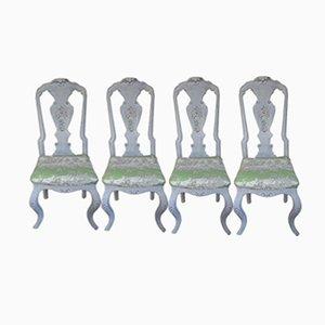 Sillas suecas, siglo XIX. Juego de 4