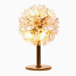 Lámpara Mid-Century con flores de cristal de Murano de Paolo Venini para VeArt