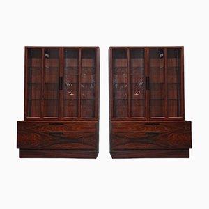Muebles vintage de palisandro de Ib Kofod Larsen para Faarup Møbelfabrik. Juego de 2