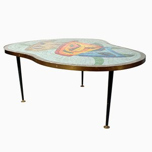 Tavolino con ripiano mosaicato, anni '60