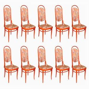 Chaises No. 17 en Bois Courbé de Thonet, 1980s, Set de 10