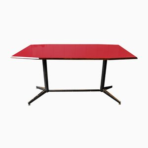 Mid-Century Red Table