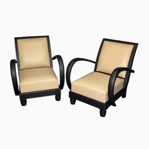 Art Déco Armchairs, Set of 2