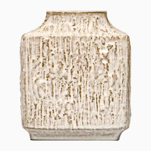 Vintage Rectangular Relief Vase by Friedegard Glatzle for Karlsruhe