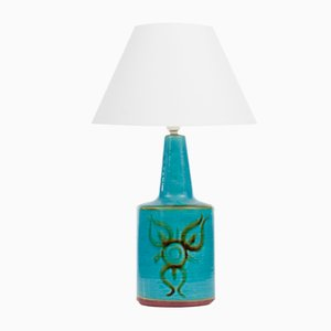 Große Skandinavische Mid-Century Modern Keramik Lampe von Soholm