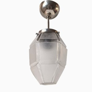 Granat Shaped Art Deco Pendant Lamp, 1940s