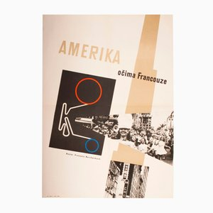 America As Seen by a Frenchman Movie Poster by Marianna Holovacká-Henrychová, 1962