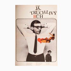 Distressing God Movie Poster by Karel Vaca, 1969