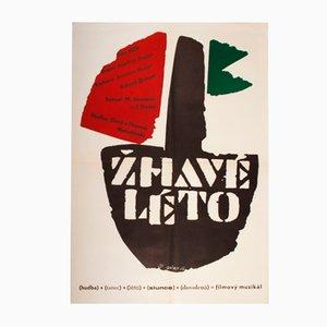 Hot Summer Movie Poster by Jaroslav Sůra, 1968