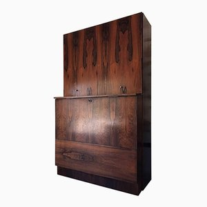 Mid-Century Finnish 2-Piece Teak Bar Cabinet from Asko