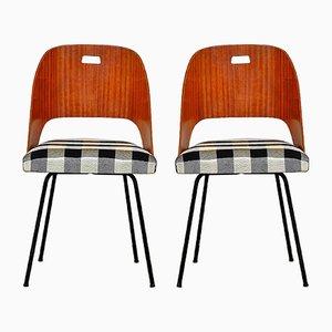Italienische Mid-Century Esszimmerstühle, 1950er, 2er Set