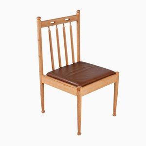 Vintage Stuhl aus Eichenholz mit Hoher Rückenlehne, 1960er