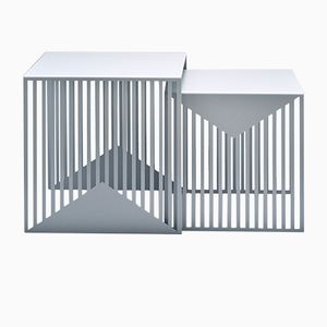 ZICK ZACK Nesting Tables in Grey by Olga Bielawska for Swedish Ninja