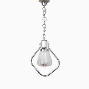 Vintage Italian Glass Pendant Light