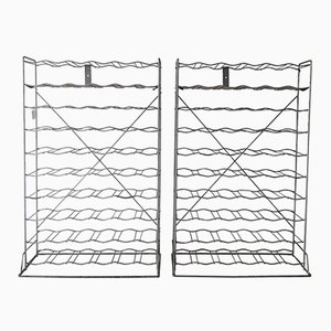 Mid-Century Metal Wine Racks from Tomado, Set of 2