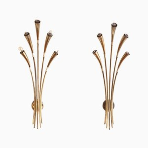 Wall Sconces by Oscar Torlasco for Lumi, 1950s, Set of 2