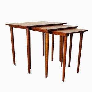 Tavolini a incastro in teak di H.W. Klein per Bramin, 1965
