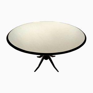 Runder Vintage Esstisch mit Verspiegelter Tischplatte