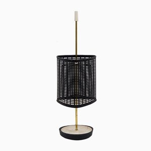Perforated Metal & Brass Umbrella Stand, 1950s