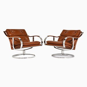 Mid-Century Modern Lounge Chairs by Gardner Leaver for Steelcase, Set of 2