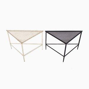 Dreieckige Tische von Mathieu Matégot für Artimeta, 1950er, 2er Set