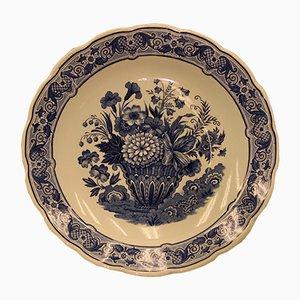 Handbemalter Vintage Teller von Delfts
