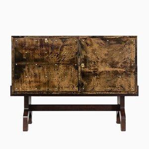Mueble de piel de cabra lacada de Aldo Tura para Tura Milano, años 50