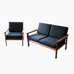 Sofa and Lounge Chair by Arne Whal Iversen for Komfort, 1960s
