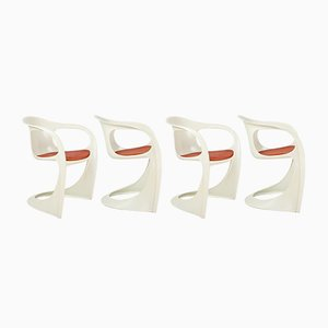 Italian Modern Dining Chairs by Alexander Begge for Casala, 1970s, Set of 4