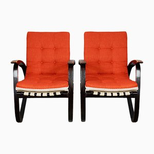 Armchairs by Jan Vanek, 1930s, Set of 2
