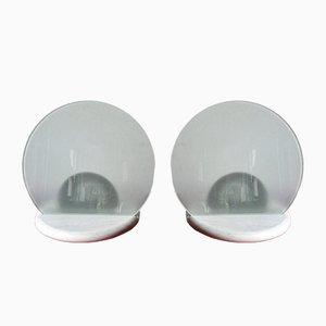 Lampes de Bureau Gong Vintage par Bruno Gecchelin pour Skipper and Pollux, Set de 2
