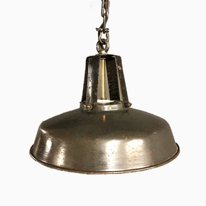 Vintage Black Enamel Pendant Light