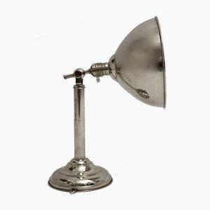 Lámpara de mesa cromada, años 30
