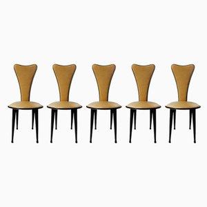 Mid-Century Esszimmerstühle von Umberto Mascagni, 5er Set