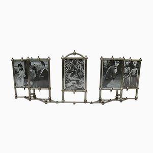 Cadre Photo pour 5 Photos Art Nouveau Plaqué Nickel