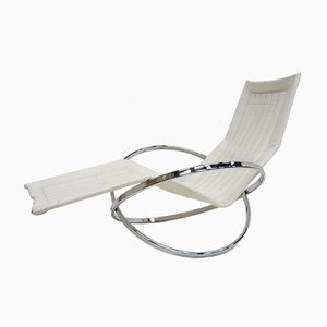 Chaise longue pieghevole Jet Star vintage di Roger Lecal