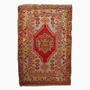Alfombra anatolia turca hecha a mano, años 20