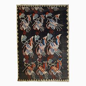 Tappeto antico Kilim Karabagh caucasico fatto a mano, anni '20