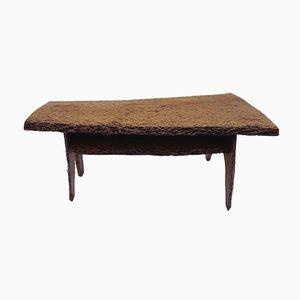 Mesa de centro Mid-Century de tronco de nogal