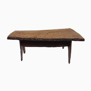 Table Basse Mid-Century en Tronc de Noyer