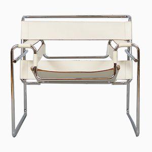 Cremefarbener Vintage Wassily B3 Stuhl von Marcel Breuer für Gavina